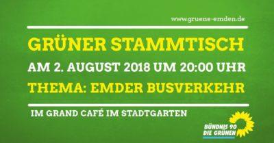 GRÜNER Stammtisch @ Grand Café am Stadtgarten