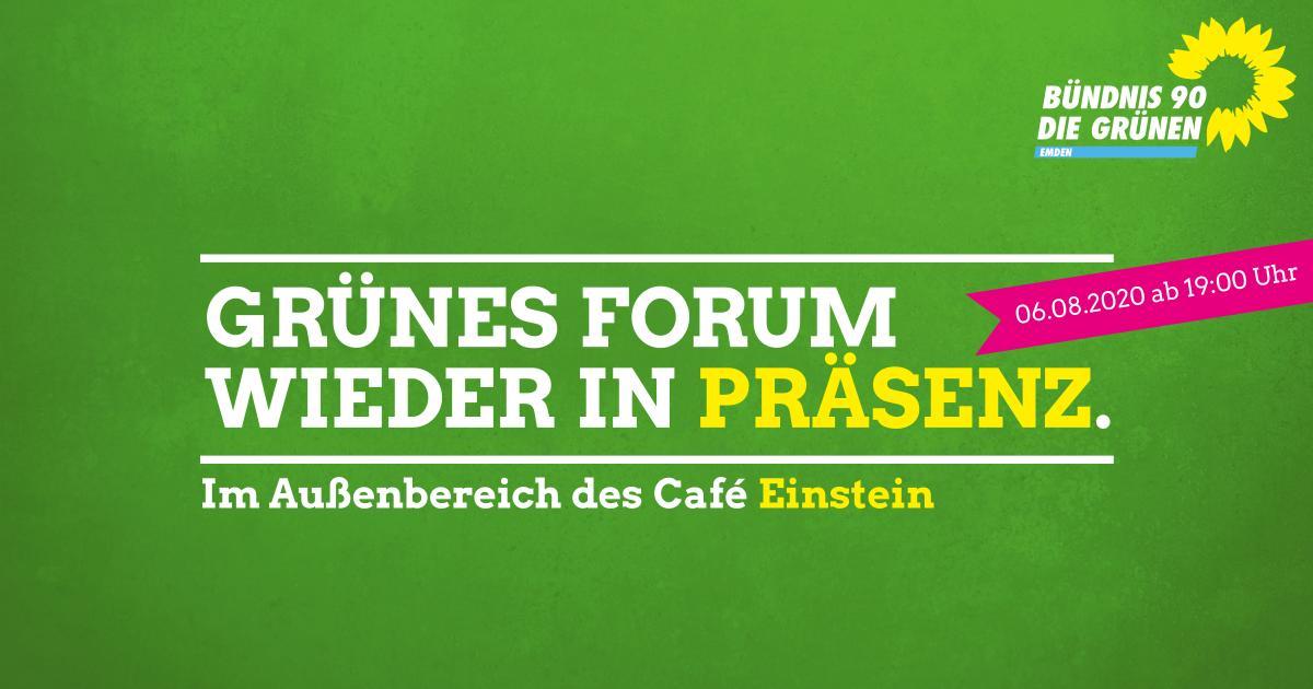 Grünes Forum am 06. August 2020