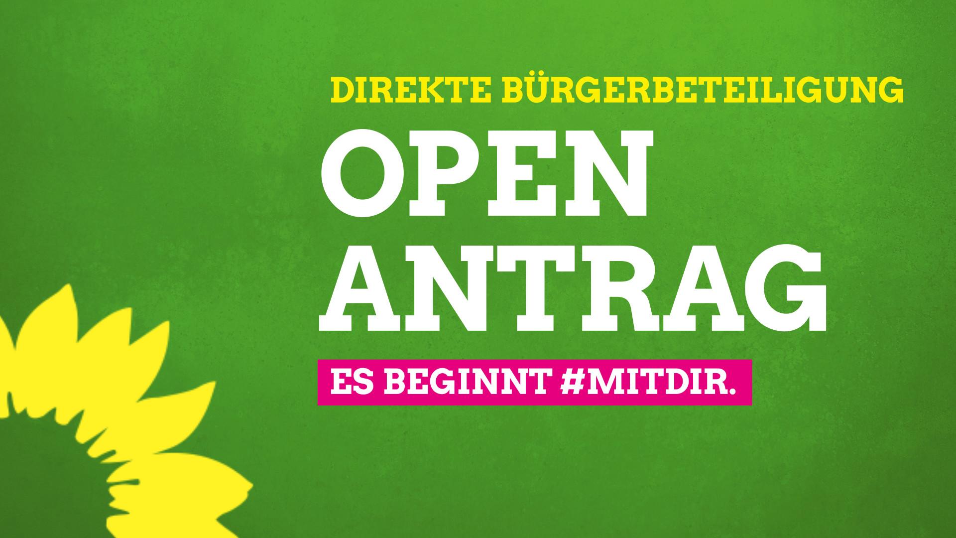 """Direkte Bürgerbeteiligung über """"Open Antrag"""" Grüne in Emden richten Möglichkeit zum Einreichen von Anträgen für alle Bürger*innen ein."""