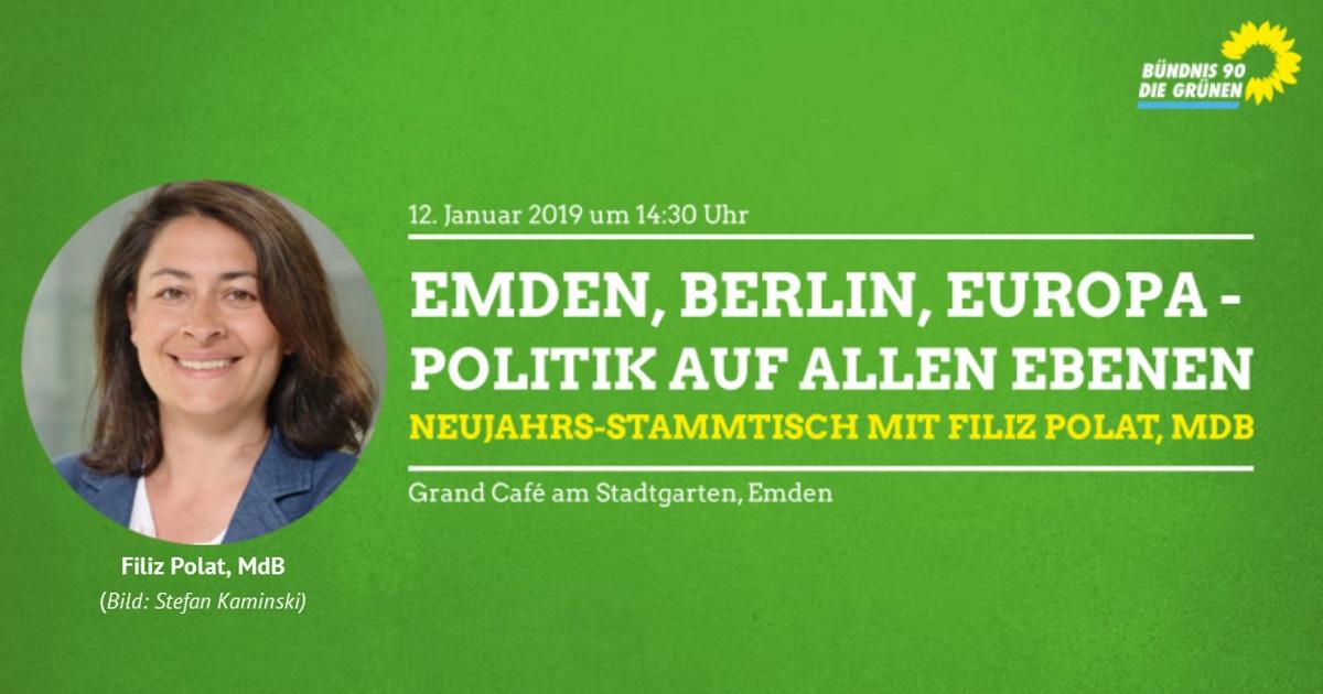 Neujahrs-Stammtisch mit Filiz Polat, MdB Emden, Berlin, Europa - Politik auf allen Ebenen